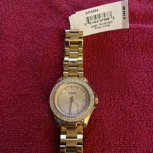 Mid Size Rose Gold Fossil Watch